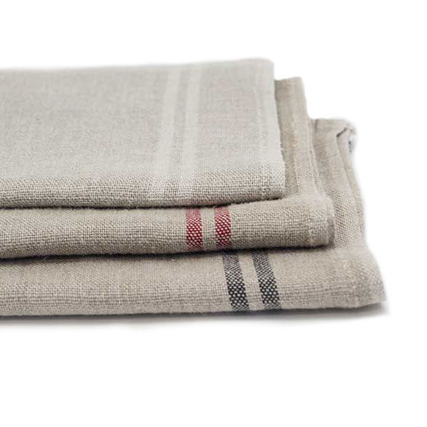 Flax Linen Washed Kitchen Towel Series