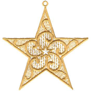 XM1351 Christmas Tree Star - Cross Hatch Embroidery - Jan de Luz