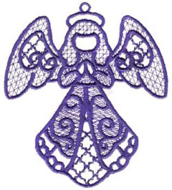 #XM1344 Angel Cross Hatch - Cross Hatch Embroidery - Jan de Luz Linens