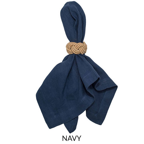 Washed Linen Napkin - Navy - Jan de Luz Linens